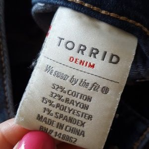 torrid Jeans - Torrid denim jegging, 16 r, ankle length